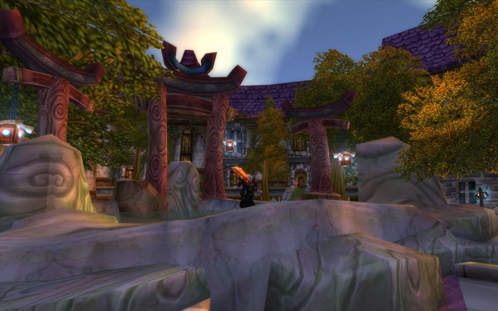I relax in Stormwind's Park