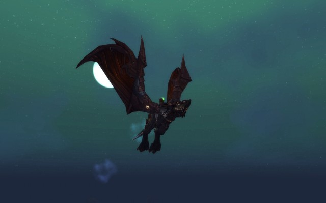Rusted Proto-Drake on a Moon-lit night