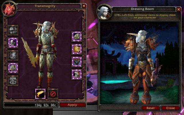 The Hunter's New Clothes, Before (right) and After (left)